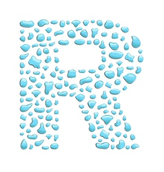 Water letter r vector