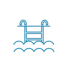water pool linear icon concept water pool line vector image