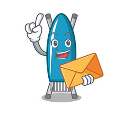with envelope iron board character cartoon vector image