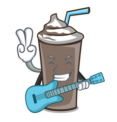 with guitar ice chocolate mascot cartoon vector image