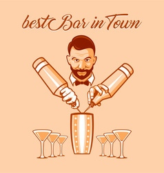 Best bar in town ad vector image