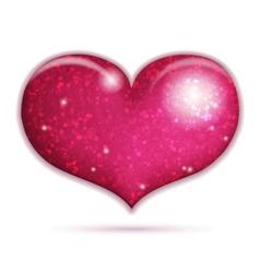 Big sparkling heart vector image vector image