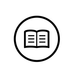 book line icon in a circle and a white background vector image