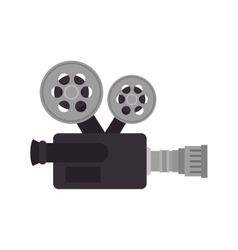 cinema retro camera vector image