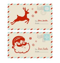 mail to santa cards vector image