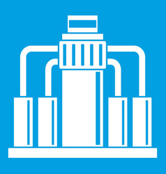 Oil refining icon white vector