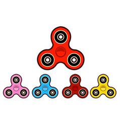 Set of hand spinning machinefidget spinners of vector