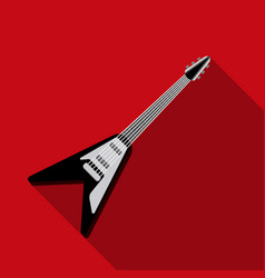 electric guitar icon in flat style isolated on vector image vector image