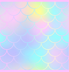 fantastic fish skin pattern with scale ornament vector image