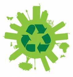 recycle on the globe vector image vector image