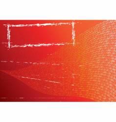 abstract orange background label grunge vector image