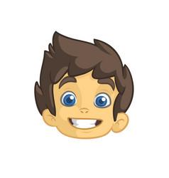 cartoon small boy head vector image vector image