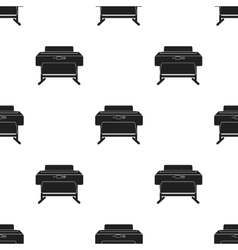 Large format printer icon in black style isolated vector image vector image