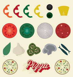 Pizza Toppings Collection vector image vector image