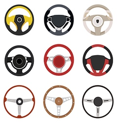 steering wheel vector image vector image