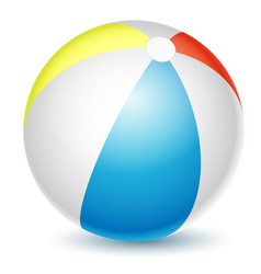 beach ball isolated on a white vector image
