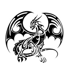 dragon tattoo design vector image vector image