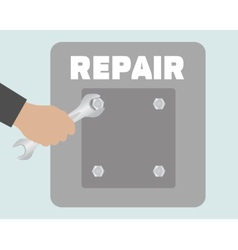 Hand with wrench Repair icon vector image vector image