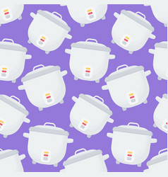 rice cooker seamless pattern vector image vector image