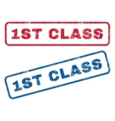1st Class Rubber Stamps vector