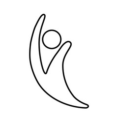 abstract human figure design vector image
