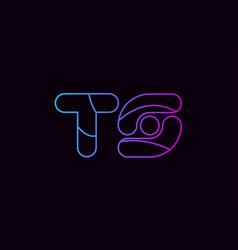 alphabet letter combination ts t s logo company vector image