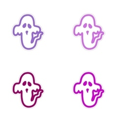 Assembly sticker ghost color on a white background vector