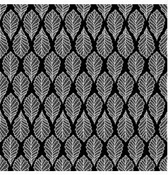 autumn seamless leaf pattern vector image