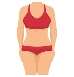Avatar woman wearing swimsuit vector