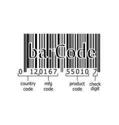 barcode decoding numeric code vector image