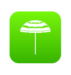 beach umbrella icon digital green vector image