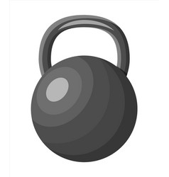 black metal fitness kettlebell vector image