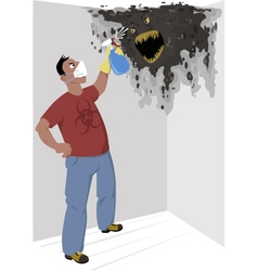 Black mold vector