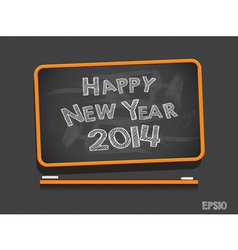 Blackboard Happy New Year vector image
