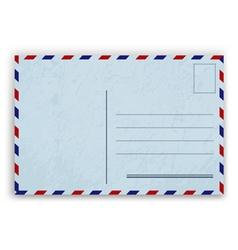 Blue Postcard Design vector image