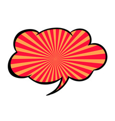 bright blank speech bubble colorful icon isolated vector image