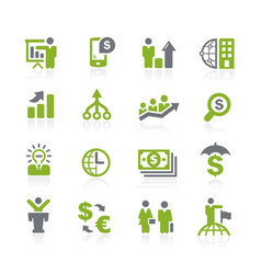 business and finance icons natura series vector image
