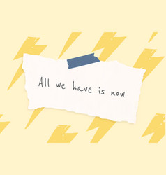 Cheerful quote template with cute doodle thunder vector