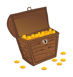chest of treasure vector image