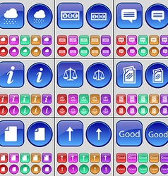 Cloud currency chat bubble information scales vector