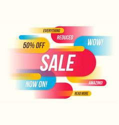 colorful horizontal fynamic style sale banner vector image