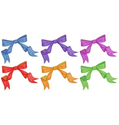 Colourful bows vector
