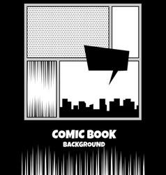 Comic book pop art monochrome mock up vector