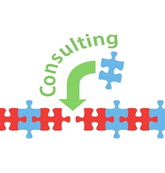 Consulting solution puzzle help answer vector image vector image