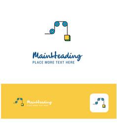 creative pulley logo design flat color logo place vector image