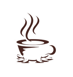 cup of coffee design vector image