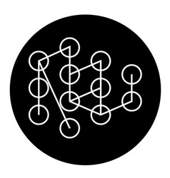 deep learning concept black concept icon vector image