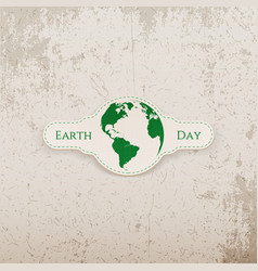 Earth Day Banner with Planet vector image