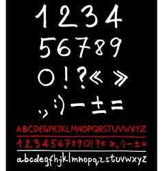 English handwriting alphabet vector image