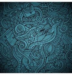 fashion decorative doodles background vector image